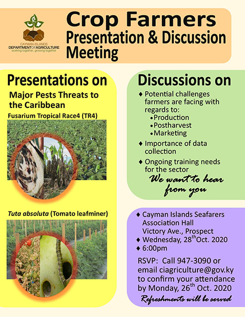 Department of Agriculture - Agronomy Meeting - 28 Oct 2020.